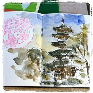 #japon #ueno #urbansketch #carbon #platinum #watercolor