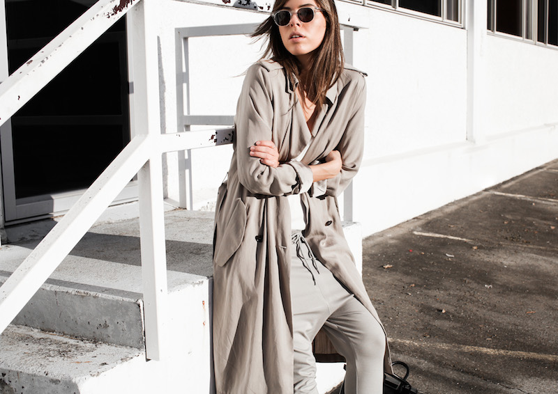 modern legacy fashion blog Australia fall Zara silky trench coat street style neutrals Bassike Birkenstock Madrid Alexander Wang bag (14 of 14)