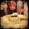 Les Flesner's birthday cake at his 100th birthday party.  #cake #icecream