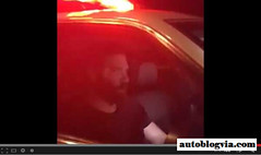 Dan Bilzerian Acting Like A Hooligan In A Cop Vehicle