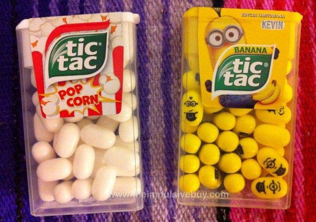 Tic Tac Popcorn and Banana Tic Tac (Poland)
