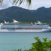 Voyager of the Seas anchored off Mystery Island, Vanuatu.