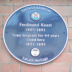 Photo of Ferdinand Keast blue plaque