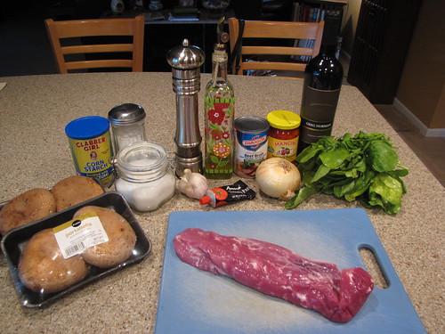 Pork & Portabella Ingredients