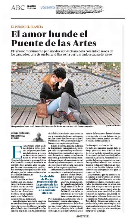 14f09 10 El amor hunde el Puente de las Artes parisino