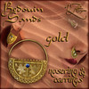 AZE Bedouin Sands Earrings & Nosering Set Gold