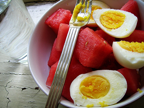 eggs and watermelon
