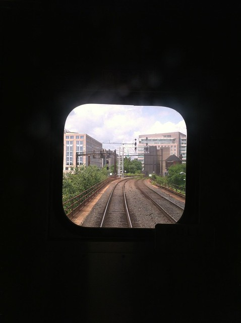 Rear view from the train