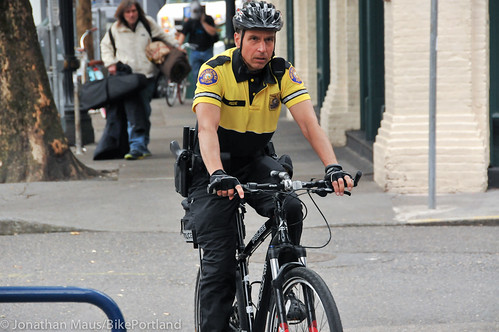 PPB Police Chief Mike Reese on bike patrol-9