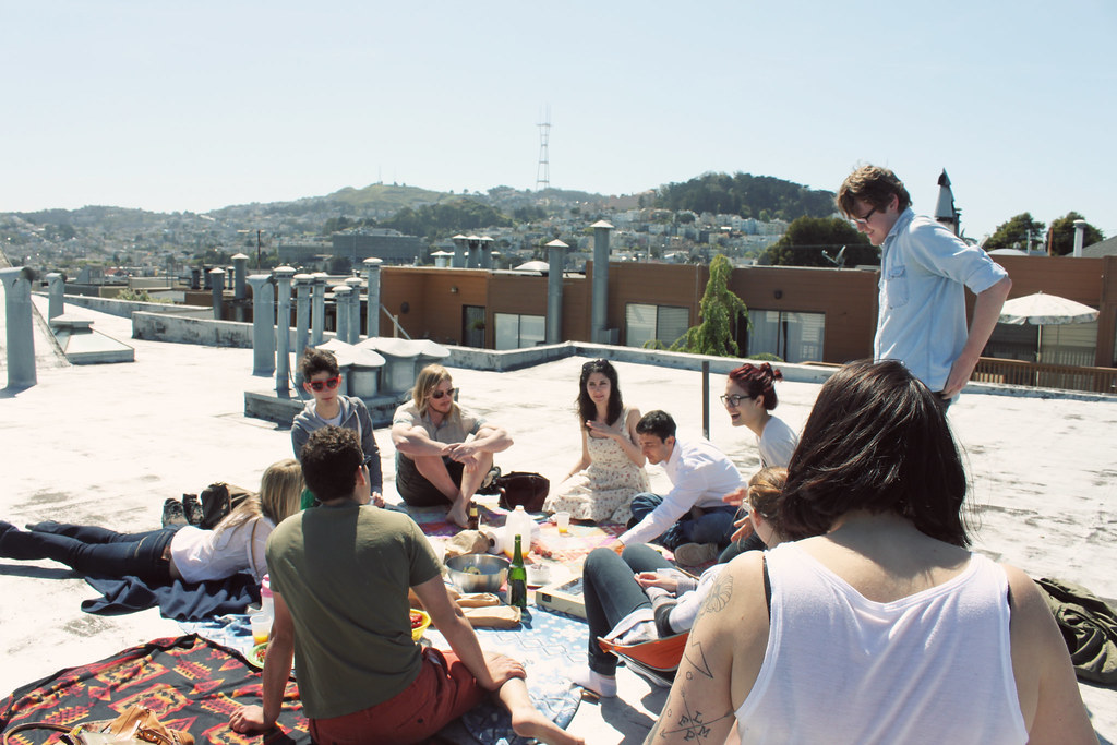 2014-06-19 roof top picnic