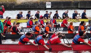 At the start line @ Royal Albert Dock 29-06-14