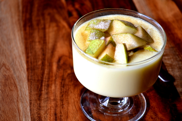 Custard and Pear Pudding Recipe