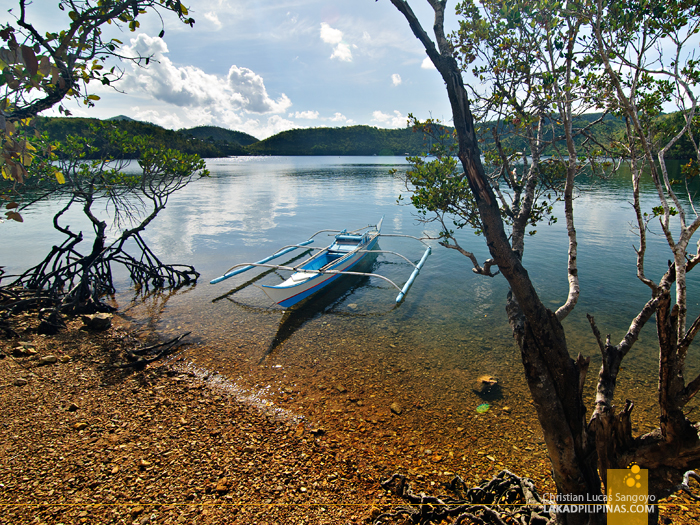 Rocky Beach at Busuanga Bay Lodge in Palawan