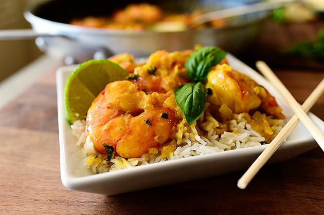 coconut curry shrimp with coconut rice rice thai coconut curry shrimp ...