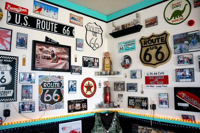 Dawn Patterson's D.K.'s Garage - Route 66, Towanda, Illinois