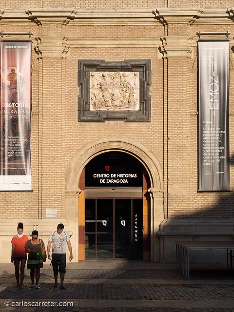 Entrada al Centro de Historias por San Agust´in