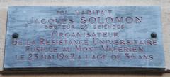 Photo of Jacques Solomon grey plaque