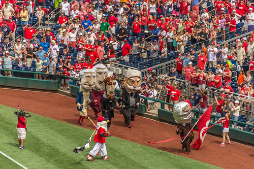 Astronaut Teddy Wins the President's Race at Nationals Park by Geoff Livingston