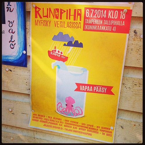 #100happydays 82: #runopiha #tallipiha #myrskyvesilasissa #poetry #tampere #minunkaupunkini