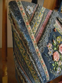 Denim Embellished Tote