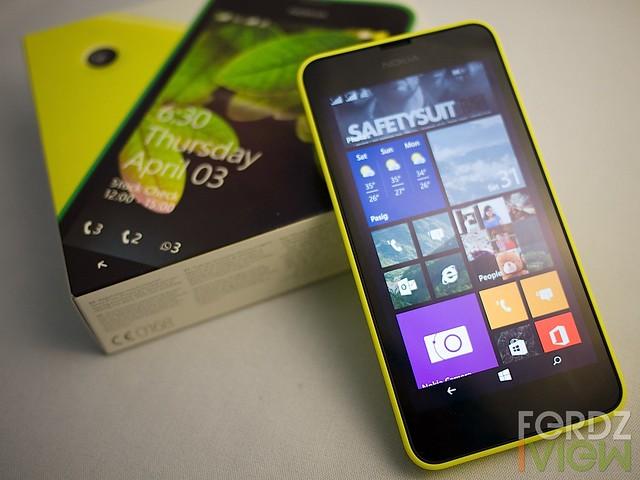 The Nokia Lumia 630 Dual Sim with box