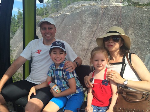 Taking the gondola down with my family after hiking up to the Sea to Sky Summit