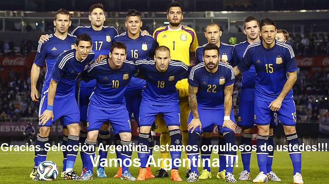 Gracias Selección Argentina 2014