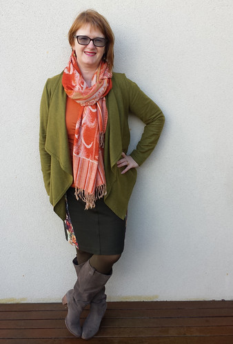 Colette Mabel skirt with Style Arc Harper jacket and Jalie top
