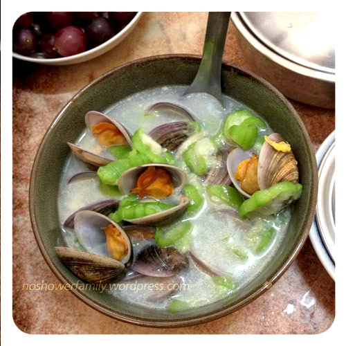Homemade- clams with loofah