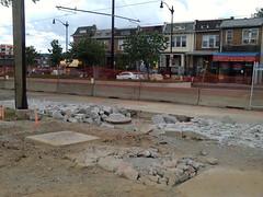 Street demolition.