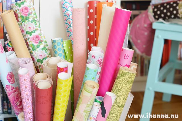 Rolls of Pretty Papers