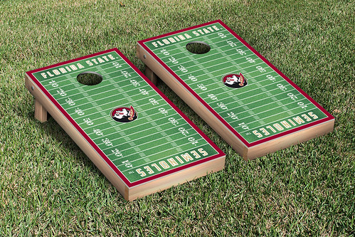 Florida State University FSU Seminoles Cornhole Game Set Football Field