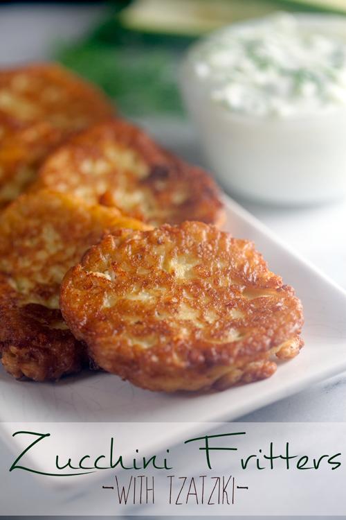 Zucchini-Fritters-with-Tzatziki