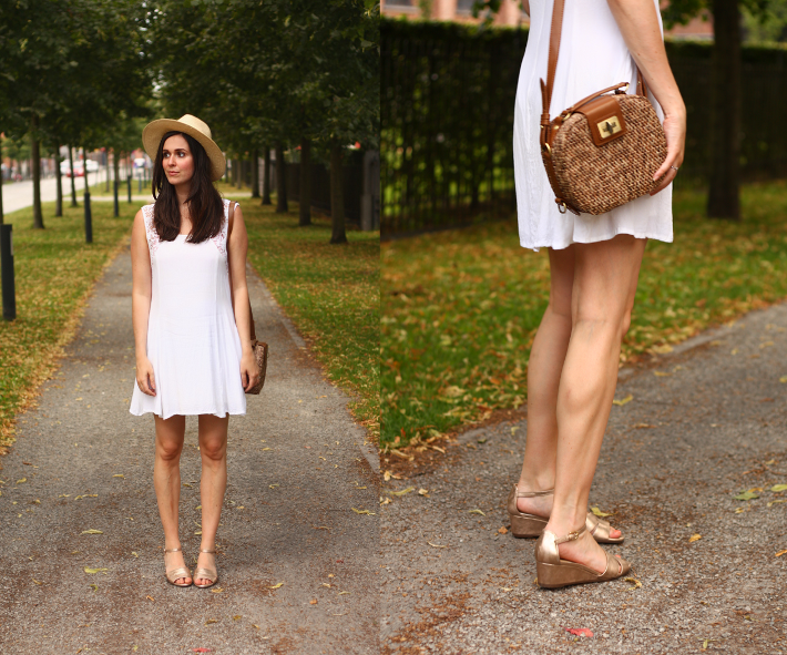 white crochet dress somedays lovin geox wedges