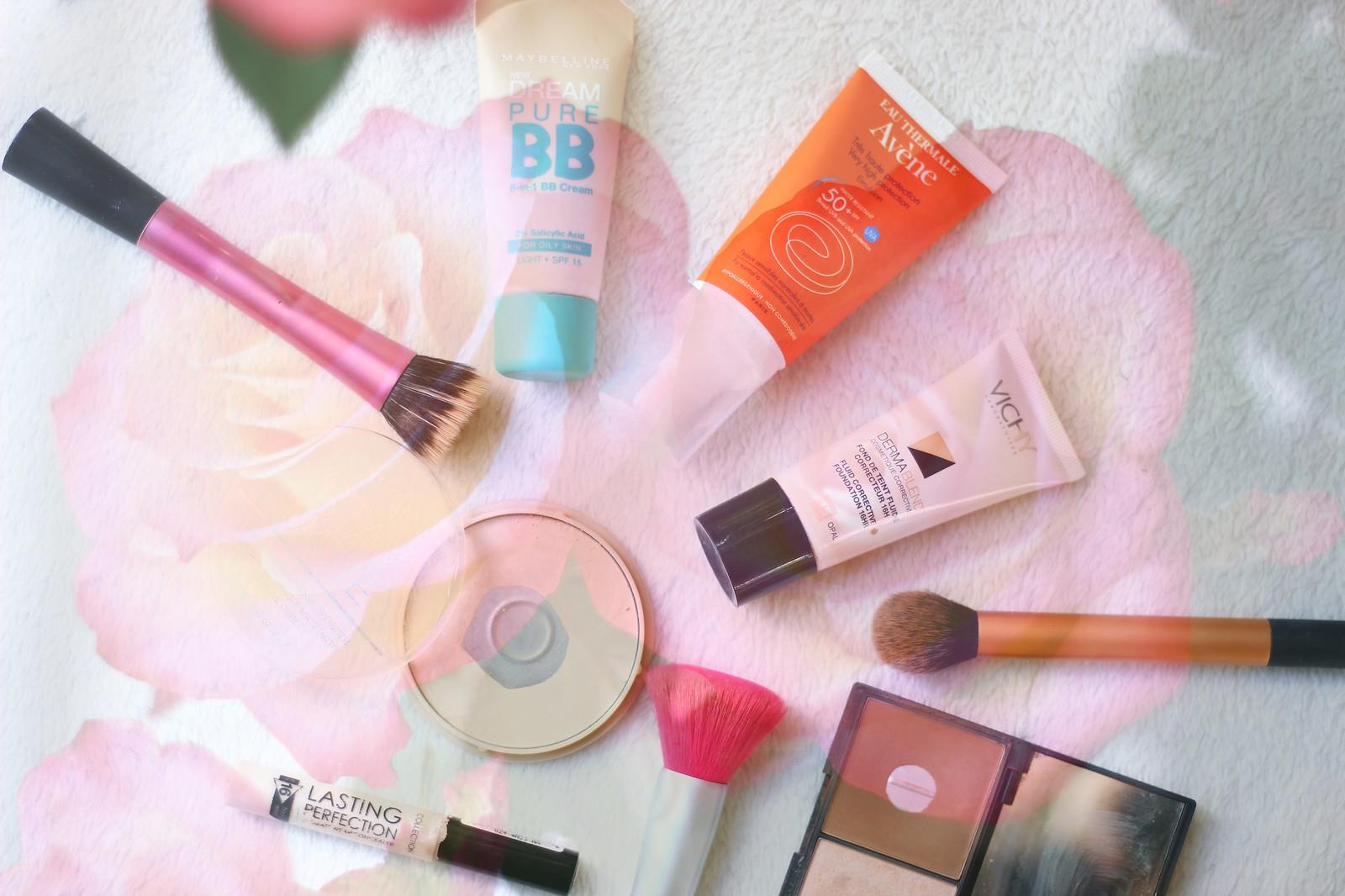 IMG_7857 layered, make up, everyday, beauty, products, avene, skincare, high street