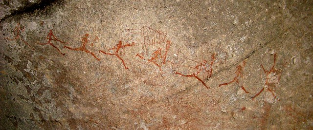 Pinturas rupestres nas colinas de Matopos, Zimbabwe