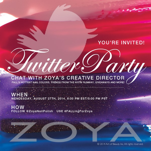 Zoya's Having A Twitter Party! Are