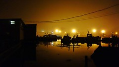 3:50AM 8/4/14 Still Water and Thick Of Fog At Captain Joe and Sons Gloucester MA Harbor