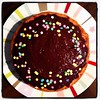 I know there's no place for sprinkles on a Boston cream pie, but I like how they look.