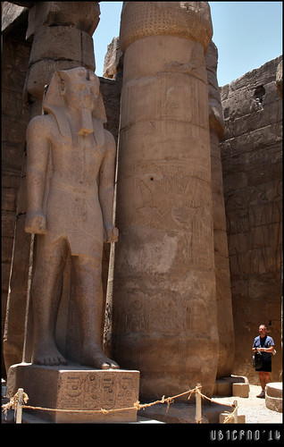 Colossi in the courtyard of Rameses II