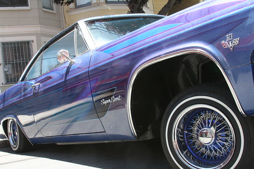 Purple Lowrider Car