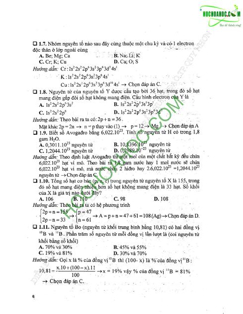 Hướng dẫn giải nhanh bài tập trắc nghiệm Hóa học Cao Cự Giác