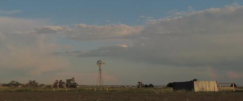 road ranch sunset windmill evening rainbow highway colorado windmills falcon co judge prairie plains orr ellicott windbreak aermotor falconcolorado falconco judgeorrroad ellicotthighway
