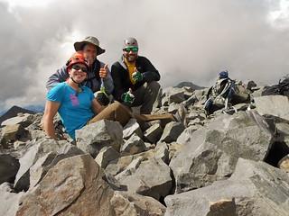 Successful Trio on Summit of Wilson Peak