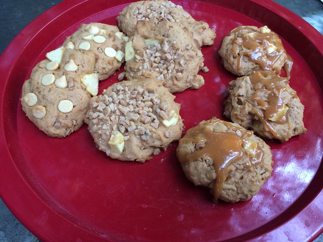 Butterscotch Toffee Apple Cookies