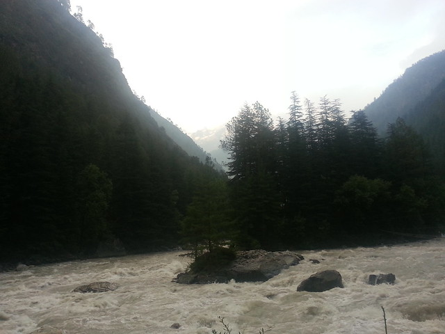 Snow capped mountains towards Manikaran