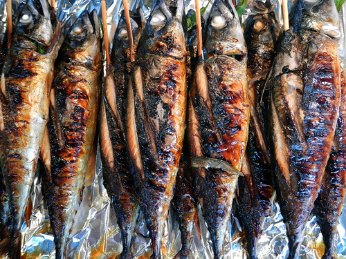 BBQ fish in Bangkok's weekend Chatuchak Market