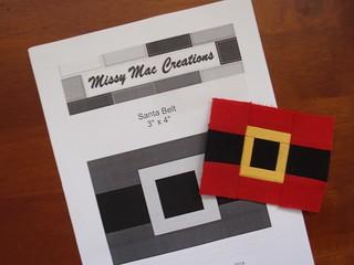 Santa Belt paper pieced pattern