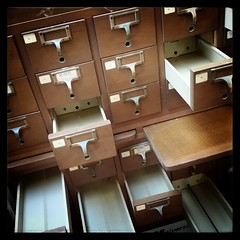 Empty, but for dust and memories #cardcatalog
