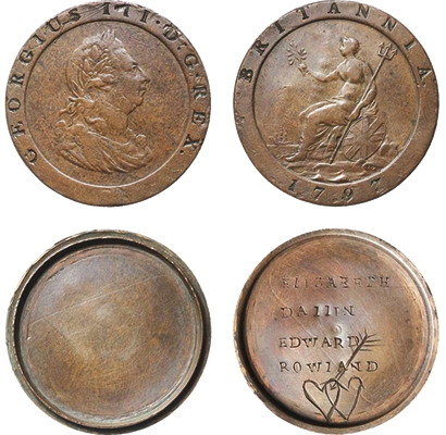ROWLAND CONVICT LOVE TOKEN SOLD